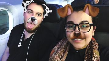 We're into the doggie Snapchat filter