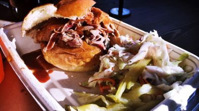 Pulled Pork Sandwich & Vinaigrette Slaw - Mighty Quinn's in Soho