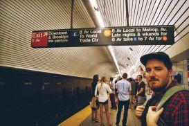 NYC Subway headed to Brooklyn